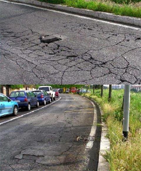Ecco lo stato delle strade nel nostro quartiere !