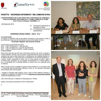 """Il CdQ ha partecipato al corso di formazione previsto nell'ambito del progetto """"SICUREZZA INTEGRATA"""""""