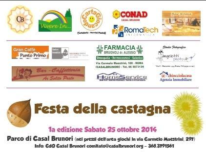 SABATO 25 Ottobre … FESTA DELLA CASTAGNA al parco di Casal Brunori