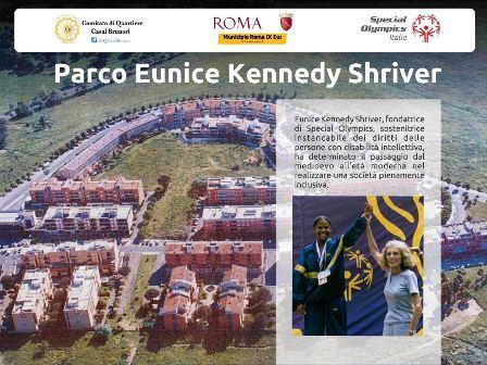 Sabato 19 marzo … il parco di CASAL BRUNORI verrà intitolato a EUNICE KENNEDY SHRIVER