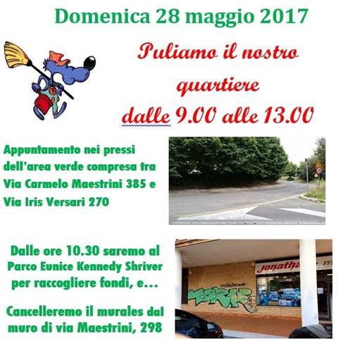 DOMENICA 28 MAGGIO – Un nuovo appuntamento per il decoro del quartiere