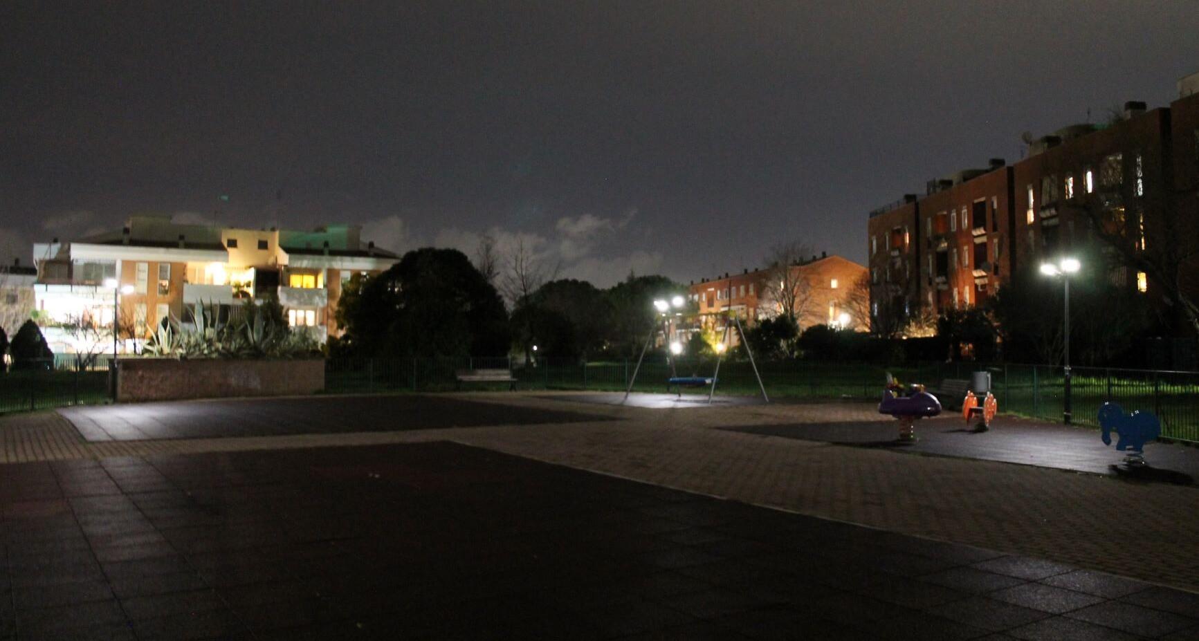 Nuova luce per il parco giochi ….
